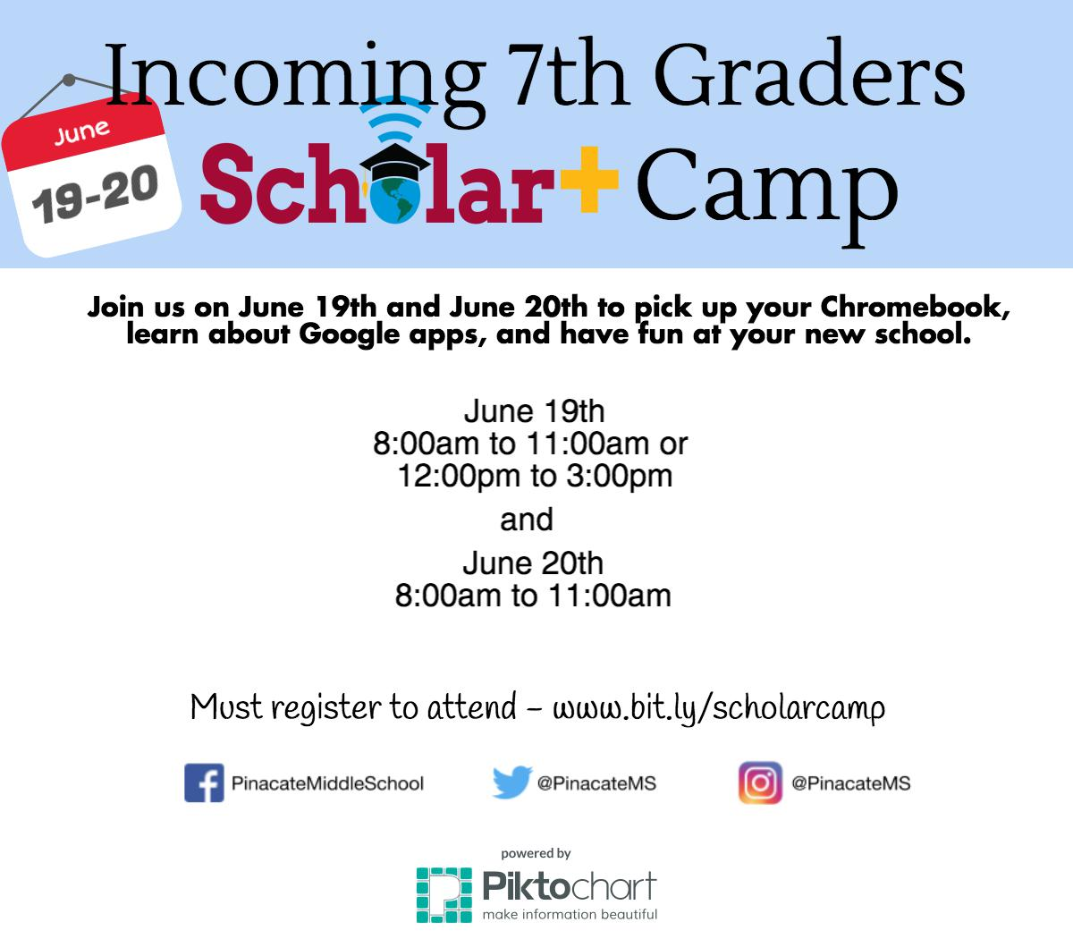 Image of Scholar+ Camp Flyer