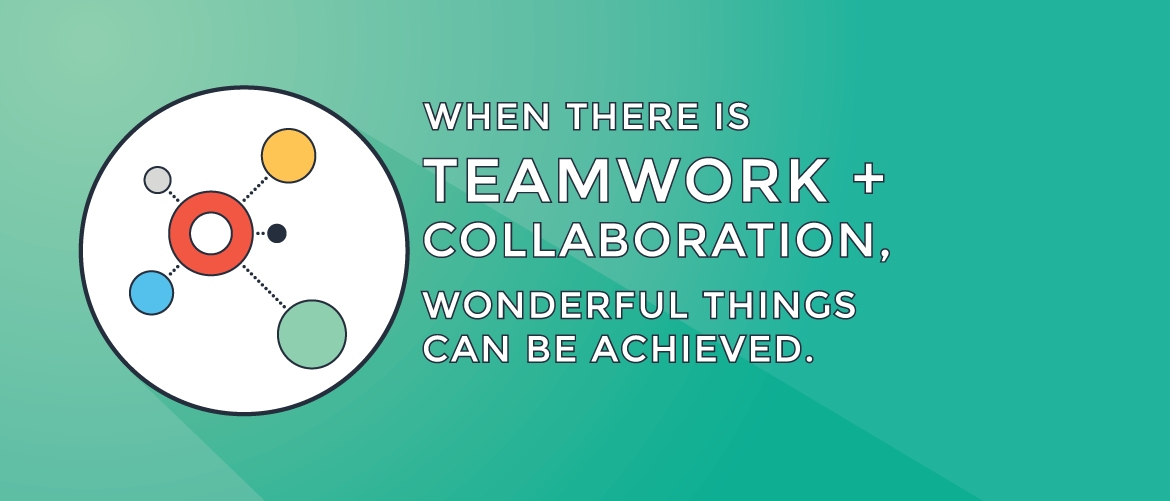 When there is teamwork + collaboration, wonderful things can be acheived.