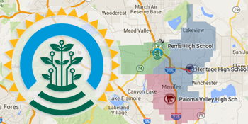 Perris Zip Code Map.Perris Union High School District