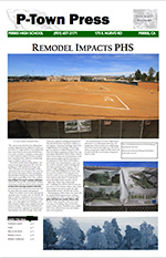 Front page of PTown_Press_E_Issue_1_of_2014_2015