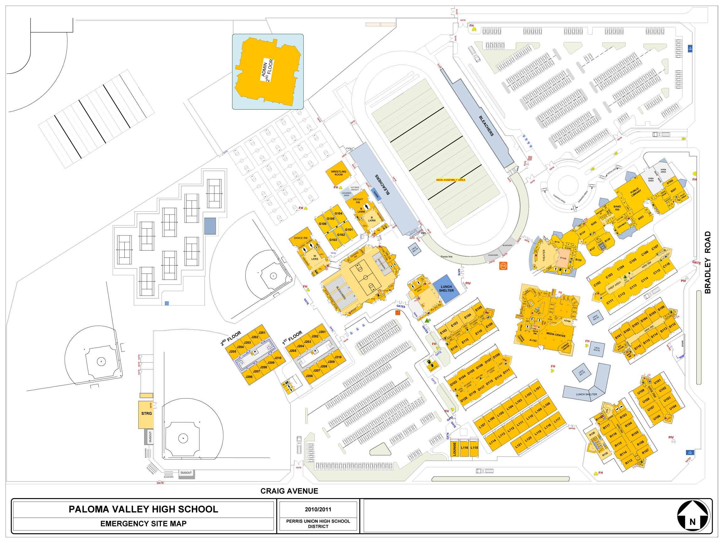 Map of PVHS Campus